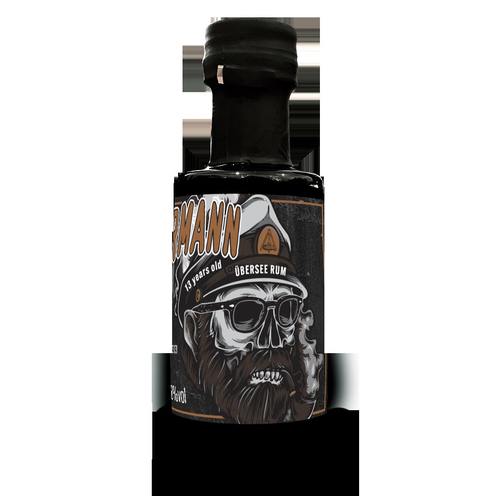 """Schwenkermann Übersee Rum 5cl <br> <p style=""""font-size: 22px""""> – Single Cask Rum im Laphroaigfass gereift-</p>"""